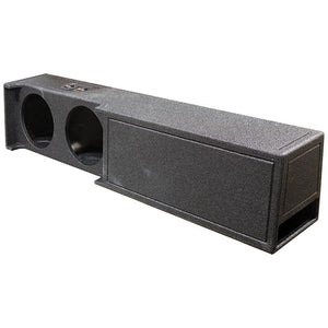 "Qpower QBDODGE19210 Dual 10"" Ported Woofer Box For Dodge Crew Cab Truck Bed Liner Coating"