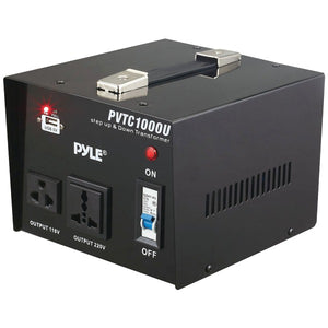 Pyle PVTC1000U Step Up and Down 1000W Voltage Converter Transformer AC 110/220V