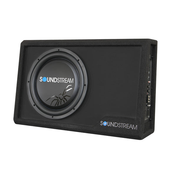 SoundStream PSB10A 300W Amplified Wedge Enclosure Box w/ 10