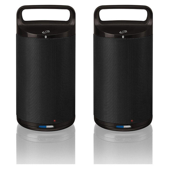 iLive ISBW2113B Indoor/Outdoor Dual Bluetooth Speakers (Pair)