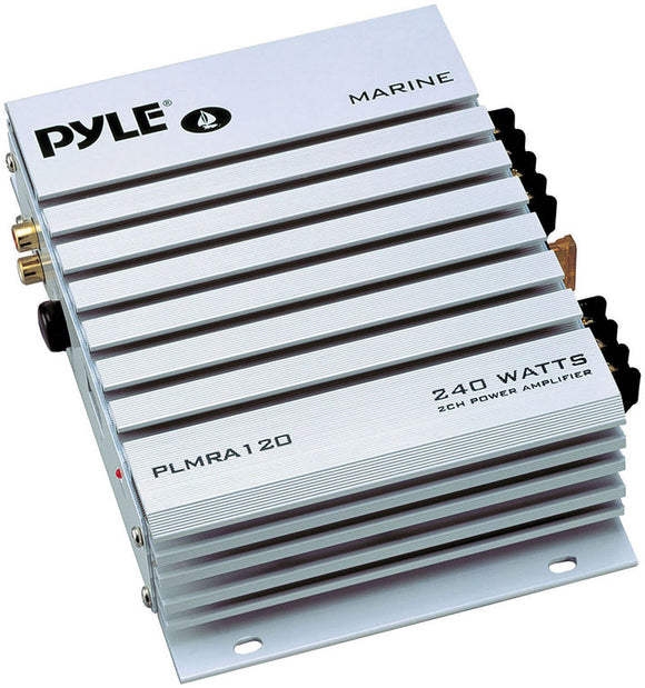 Pyle PLMRA120 2 Channel 240 Watt Marine Amplifier