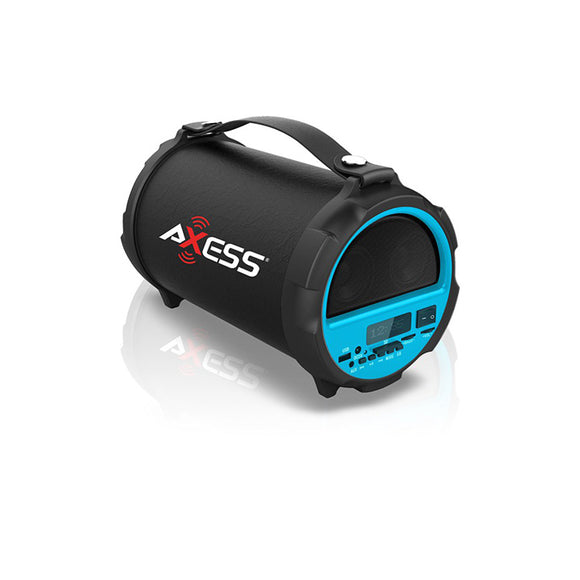 AXESS SPBT1037BL Bluetooth In-Outdoor 2.1 Cylinder Speaker  Built-In 4