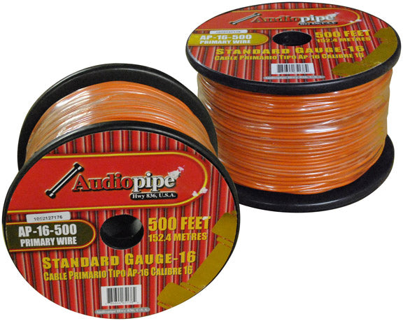 Audiopipe AP16500OR 16 Gauge 500Ft Primary Wire Orange