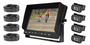 "Pyle PLCMTR104 10.1"" LCD Monitor with 4 night vision cameras"