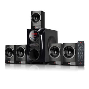 Axess MSBT3911BK Mini Entertainment System 5.1 Channel BTUSBSDFM 20w+10Wx5