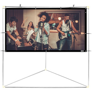 "Pyle PRJTPOTS81 Portable Outdoor Projection Screen (80"")"