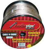 Audiopipe CABLE14500 14GA 500' clear Speaker Wire