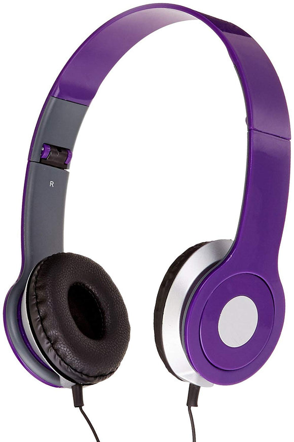 iLive iAH54PR Over the Ear DJ Headphones Purple