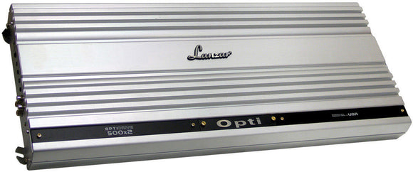 Lanzar OPTI500X2 Opti 750wx2 Rms 2000 Watts Max @ 2 Ohms 2 channel Amplifier