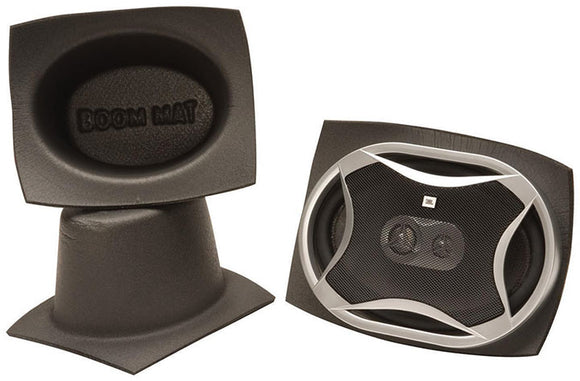 DEI 050361 Boom Mat Speaker Baffles 5 x 7 Oval Slim Pack of 2