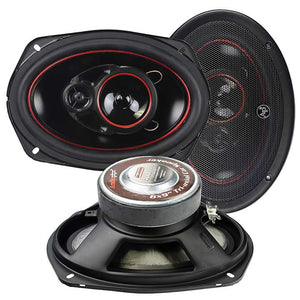 "Audiopipe CSL6923R 6x9"" 400 Watt Redline 3 Way Speakers (pair)"