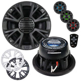 "Audiopipe APMPT625LD 6"" 2-way Marine Speaker w/LED Lights 500W Max grills incl."