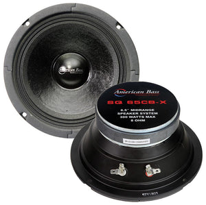 "American Bass SQ65CB 6.5"" 300 Watt 8 Ohm Mid Range Speaker"