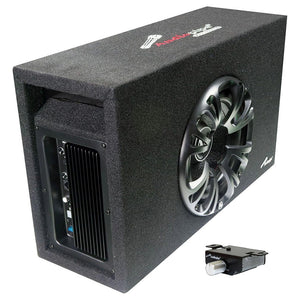"Audiopipe APMINIB800A Single 8"" Amplified Ported Bass Enclosure 800 Watts"