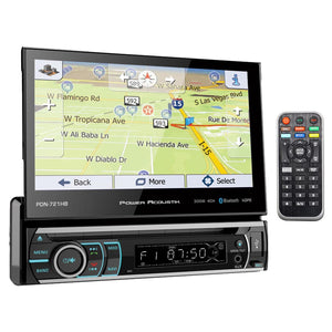 "Power Acoustik PDN721HB 7"" Flip out Touchscreen AM/FM/DVD/USB/BT With Navigation"