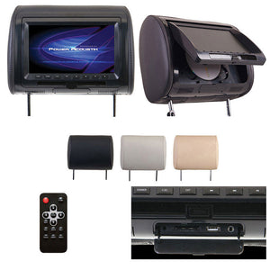 "Power Acoustik HDVD-91CC 9"" Universal DVD Headrest With USB/AUX"