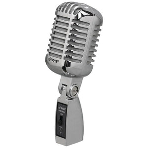 Pyle PDMICR68SL Classic Die-Cast Metal Retro-Style Dynamic Vocal Microphone