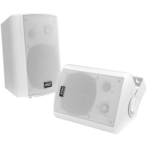 "Pyle PDWR61BTWT 6.5"" Indoor/Outdoor Wall-Mount Bluetooth Speaker System (White)"