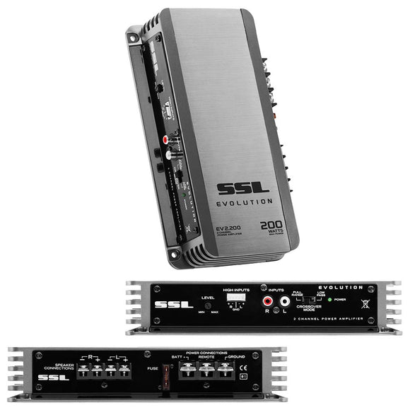 SOUND STORM EV2.200 EVOLUTION 200-Watt Full Range, Class A/B 2 to 8 Ohm Stable 2 Channel Amplifier
