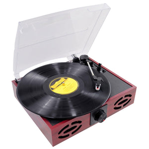 Pyle PVNT7U Classic Vintage Retro Style Turntable with Vinyl-to-MP3 Recording Connect to Computer and Create Digital Audio Files