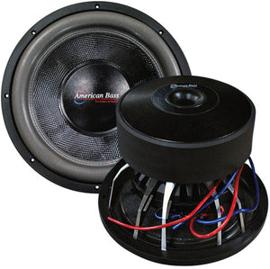"American Bass 18"" Cast Frame 320Oz Magnet Woofer"