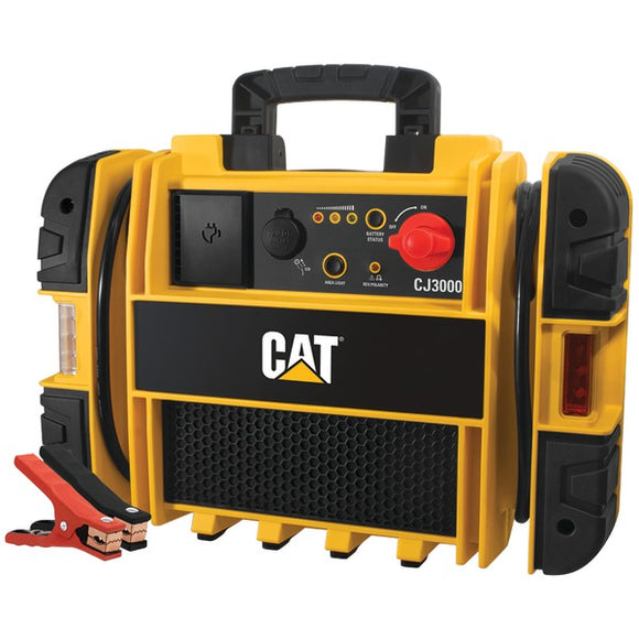 CAT CJ3000 Professional Jump Starter: 2000 Peak/1000 Instant Amps with Built-In
