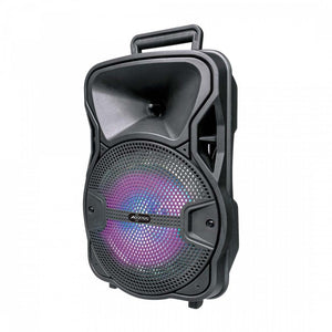 "Axess 8"" Bluetooth Party Speaker Disco LightsRemoteRechargeable Battery"
