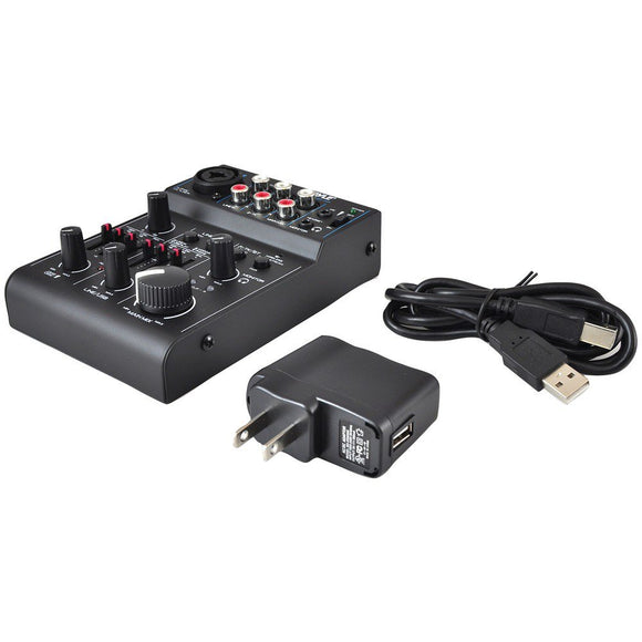 Pyle PAD30MXUBT 3-Channel Bluetooth Mixer