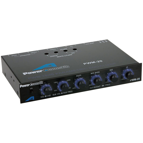 Power Acoustik  PWM-20 Four Band Parametric Equalizer