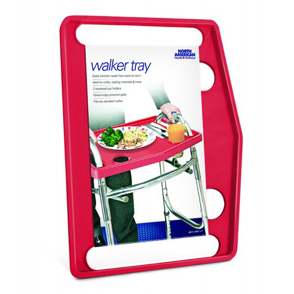 North JB4790RED American Healthcare Walker Tray - Red