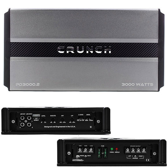 Crunch PD 3000.2 PRO POWER Power Drive Bridgeable Amplifier 3000 Watts 2 ch