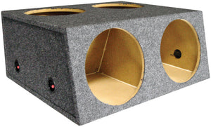 "Q Power L412D 12"" 4 Hole Car Subwoofer Box w/ Divider"