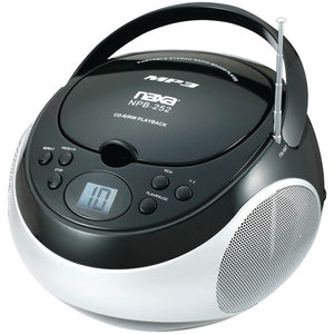 Naxa NPB252BK Portable mp3/CD Player with AM/FM