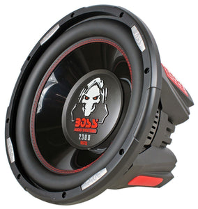BOSS AUDIO P126DVC  Phantom 12 inch Dual Voice Coil (4 Ohm) 2300-watt Subwoofer