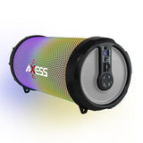 AXESS SPBL1044SL Vibrant Plus Bluetooth Speaker with Disco LED Lights In Silver