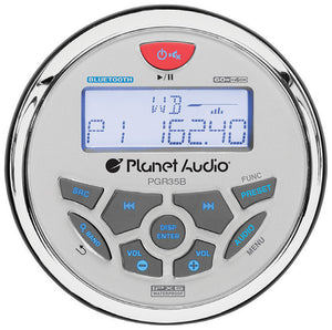 Planet Audio PGR35B Marine Gauge Mechless Multimedia Player Stereo
