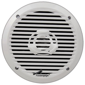 "Audiopipe APSW6032 6.5"" 2-Way Marine Speakers 200W Max White-Pair"