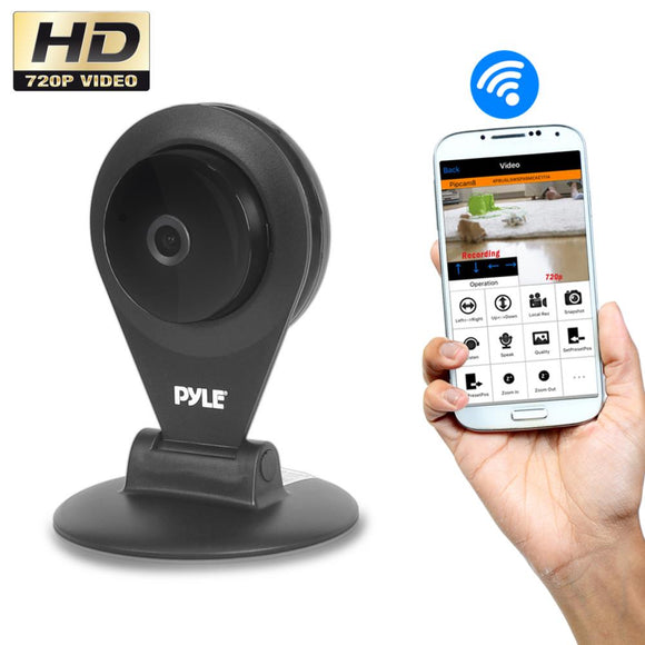Pyle PIPCAMHD22BK Black Wireless HD Video Security Surveillance Camera