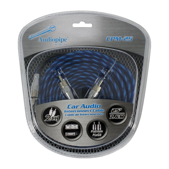 Audiopipe CPM25 25 foot Platinum Plated Interconnect Cable