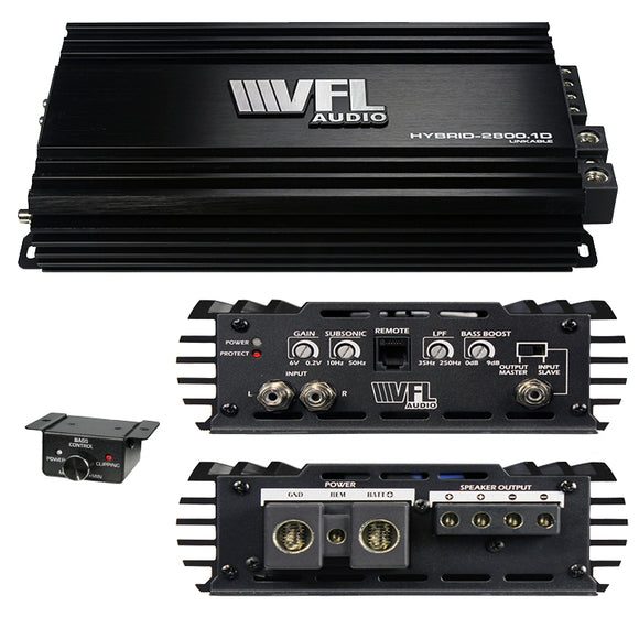 VFL Audio VFLHYBRID28001D Linkable D Class 2800 watt Hybrid Mono Amplifier