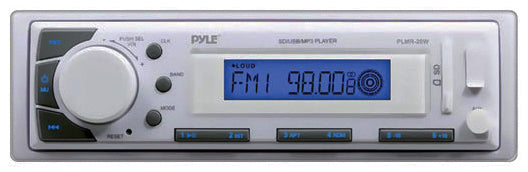 Pyle PLMR20W Marine Stereo w/ Aux Input, USB/SD Card Readers