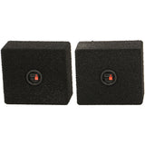 "Qpower QBTW65 Empty 6.5"" Speaker Enclosure Pair QBomb w/ Bedliner Coating"