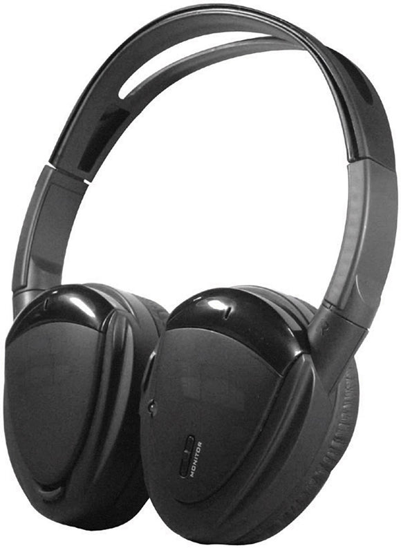 Power Acoustik HP900S HEADPHONES SWIVEL EARPAD 2 CH.RF 900 MHZ