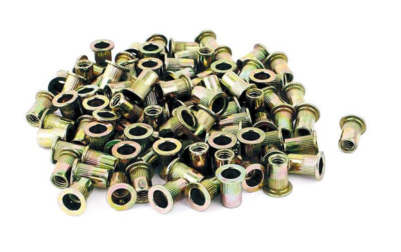 Astro RN6M M6 6mm Steel Rivet Nuts 100 Piece
