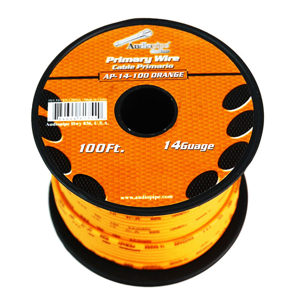 Audiopipe AP14100OR 14 gauge 100ft Orange primary wire