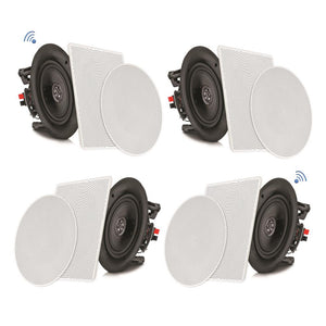 "Pyle PDICBT266 6.5"" Bluetooth Ceiling/Wall Speakers 4pack"