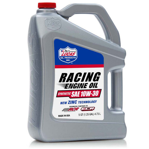 Lucas Oil 10611 Synthetic Sae 10W-30 Racing Motor Oil 5 Quart