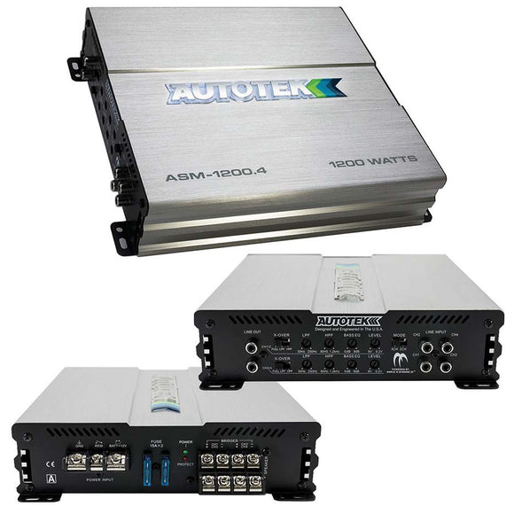 Autotek ASM12004 Amp  1200 Watt 4 Channel Amplifier