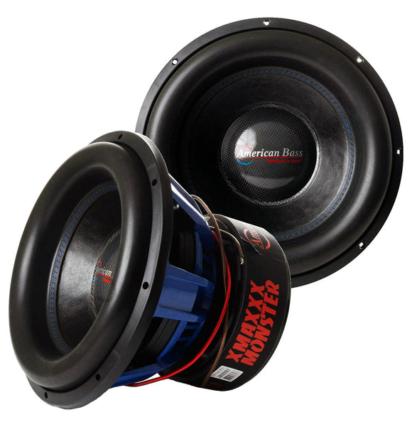 American Bass XMAX1511 Dual 1 Ohm Voice Coil 4250 Watts RMS/ 8500 Watts Max