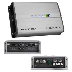 Autotek Alloy Amplifier 4 Channel 1100 Watts Max 2 ohm